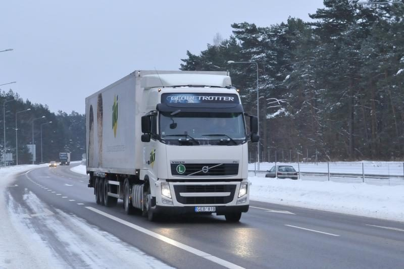 Finišavo krovininių vilkikų ekonominis žygis (foto)