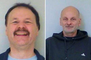 Vokietijos policija persekioja du iš kalėjimo pabėgusius vyrus