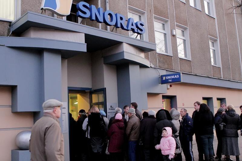 """""""Snoro"""" bankroto metinės: ginčai niekaip nesibaigia"""