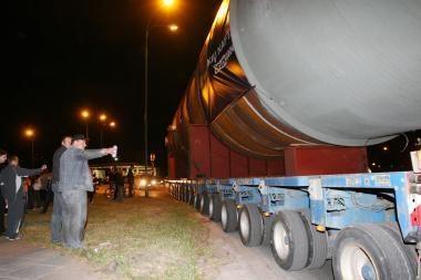 Didžiulės turbinos į Elektrėnus keliaus per Kauną