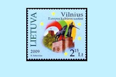 """Išleidžiamas pašto ženklas """"Vilnius – Europos kultūros sostinė"""""""