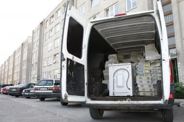 Vilniuje iš krovininio automobilio pavogta buitinės technikos už 100 tūkst. litų