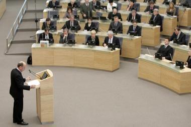 M.Varaška siūlo būdą kaip mažinti Seimo narių pajamas