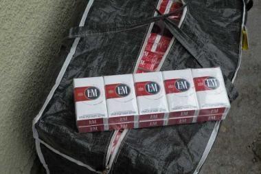 Uostamiestyje su cigaretėmis įkliuvo klaipėdietis