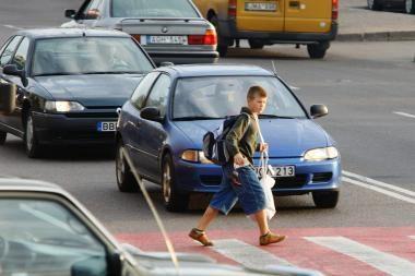 Vairuotojai bus tikrinami, ar vykdo pareigas pėstiesiems