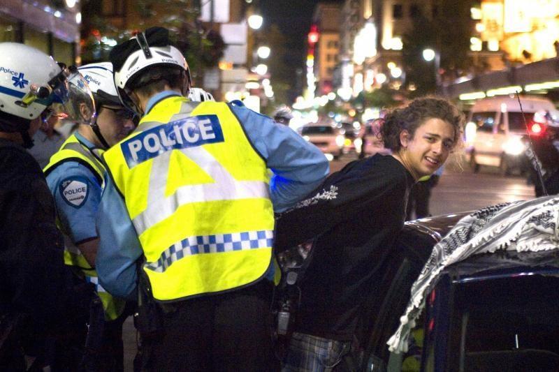 """Kanados policija mušė protestavusius per """"Formulę 1"""""""