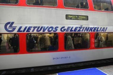 Į renginius traukiniais kovo 11-ąją – perpus pigiau