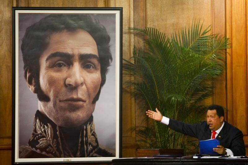 H.Chavezas atidengė timatį S.Bolivaro atvaizdą