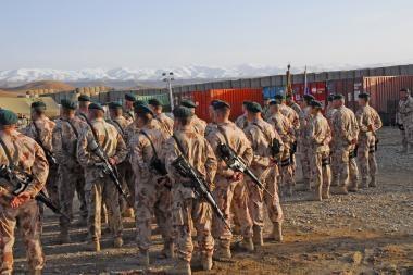 Į Afganistaną išlydima dešimtoji karių pamaina
