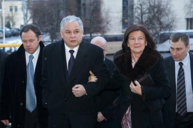 Lenkijos prezidento motina paguldyta į ligoninę