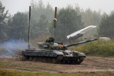 Per Lietuvą tranzitu važiavo Rusijos tankai