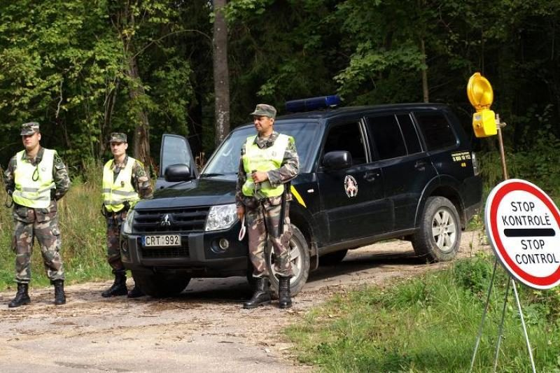 Kybartuose sulaikyta Belgijoje vogta puspriekabė