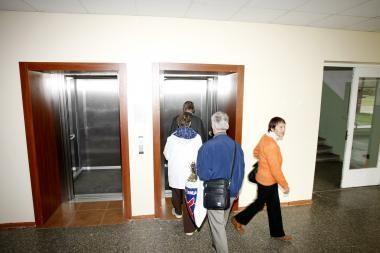 Pacientams - nauji liftai
