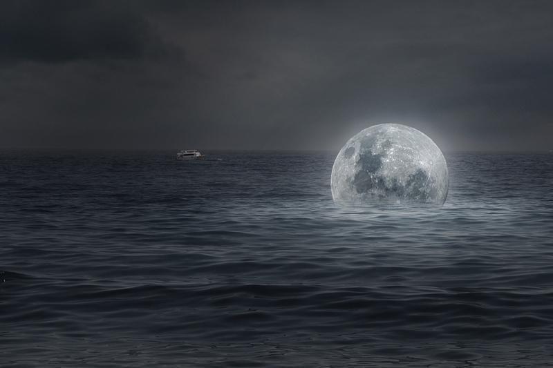 Mėnulyje kadaise tyvuliavio kelių šimtų kilometrų gylio vandenynas