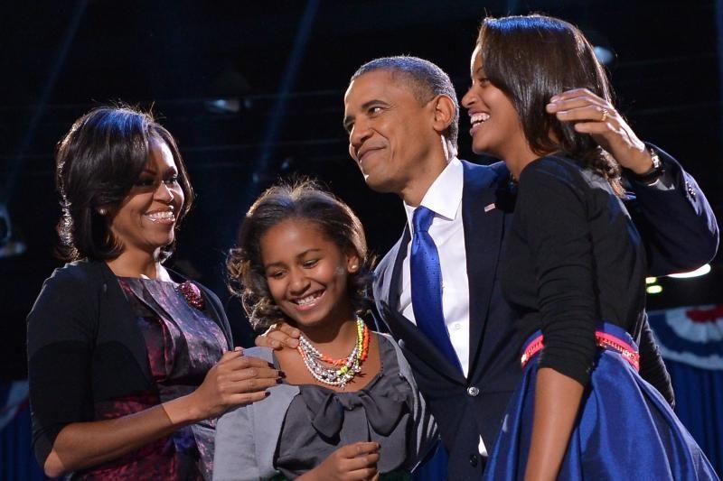 Nufilmuotas per padėkos kalbą ašaras braukiantis B. Obama