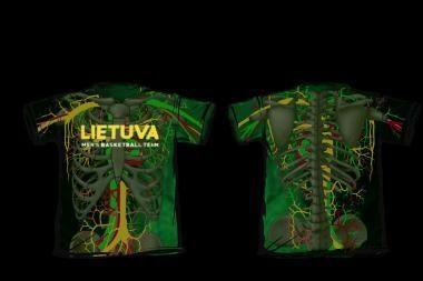 Išrinkti Lietuvos vyrų krepšinio rinktinės aistruolių marškinėliai
