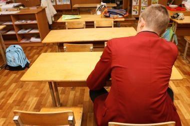 Nepaisant šalčių pamokos Vilniaus mokyklose vyksta