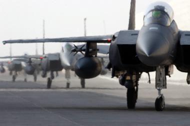 NATO oro policijos misiją Baltijos šalyse perims JAV kariai