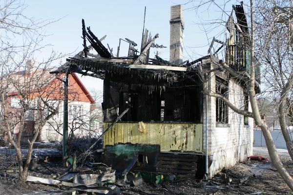 Klaipėdoje sudegė namas