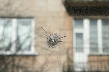 Kulautuvoje apšaudytas namas