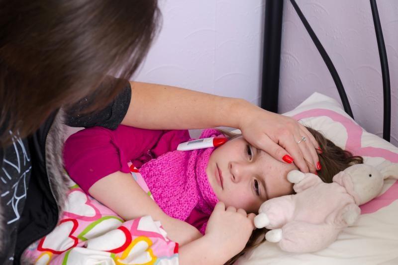 Uostamiesčio vaikus užpuolė peršalimo ligos