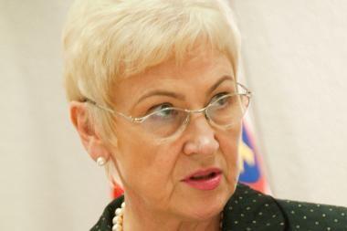 Seimo pirmininkė: man būtų gaila, jei A.Salamakinas paliktų EPK vadovo postą