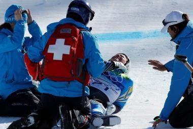Šiurpiai griuvusi kalnų slidininkė A.Paerson išvengė sunkių sužalojimų
