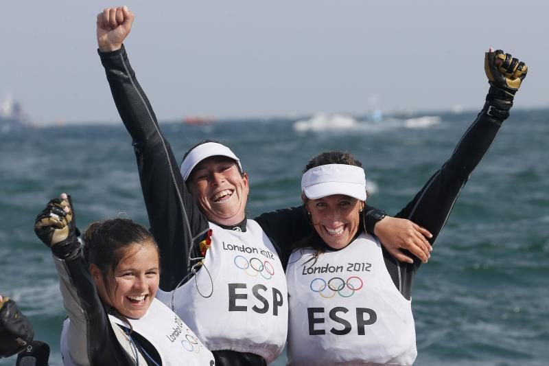 Londono olimpiados regatą auksiniu akordu baigė Ispanijos buriuotojos