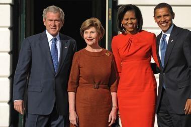 B.Obama susitiko su G.W.Bushu