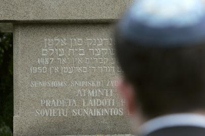 Tvarkoma masinių žydų žudynių vieta Marijampolėje