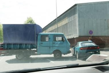 Girtas vairuotojas Klaipėdoje sukėlė avariją