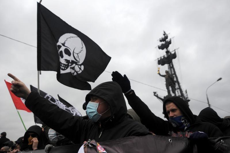 Ultranacionalistams leista mitinguoti prieš V. Putiną Maskvos centre