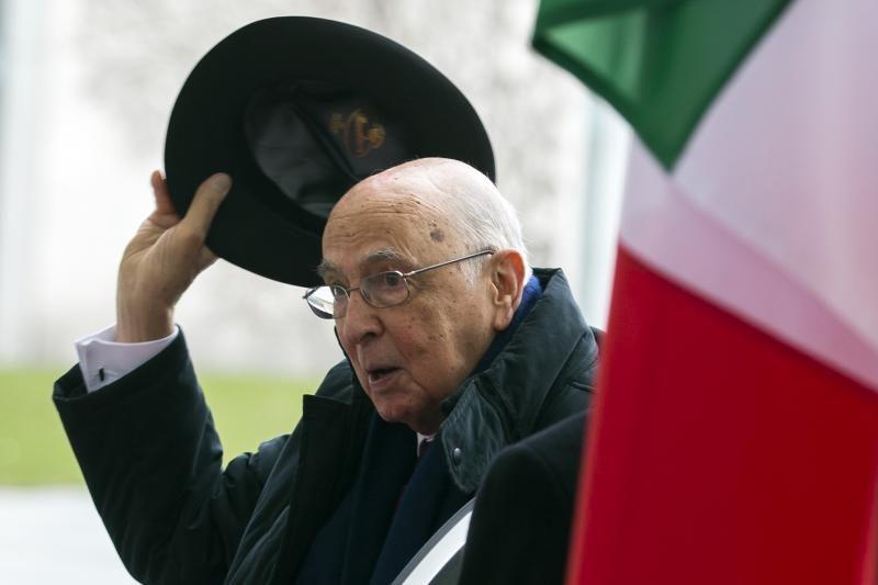 Italijos politikos veteranas G.Napolitano perrinktas šalies prezidentu