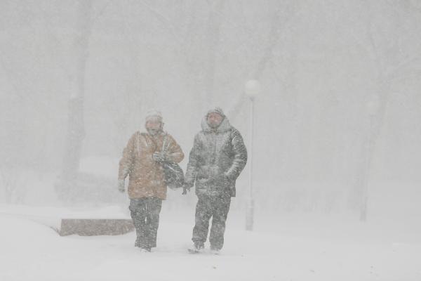 Estijoje siautėja pūga, kuri tęsis ir penktadienį