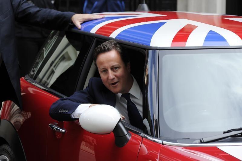 D. Camerono partija pažeminta per papildomus rinkimus