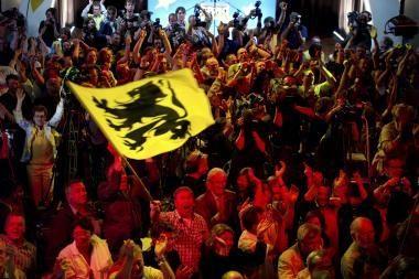 Belgijos parlamento rinkimuose triumfavo flamandų separatistų partija