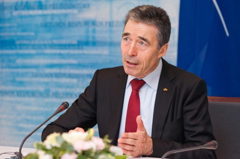 NATO vadovas A. F. Rasmussenas dirbs šiame poste penktus metus