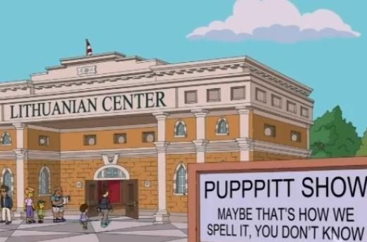 """JAV seriale """"Simpsonai"""" – epizodas apie Lietuvos kultūros centrą"""