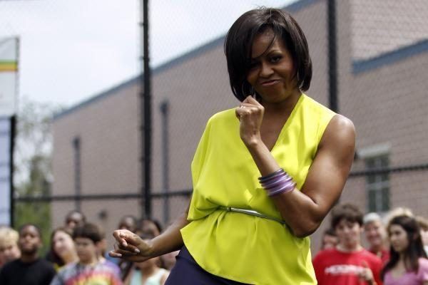 Vaikų nutukimu besirūpinanti M.Obama dalyvavo bėgimo varžybose
