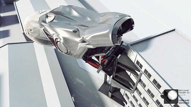 Nei automobilis, nei erdvėlaivis: futuristinė buto koncepcija Pekine