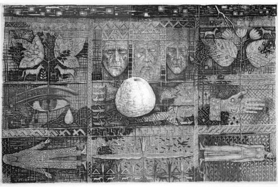 Žmogaus pasaulio atspaudai E.Rudinsko kūrybo