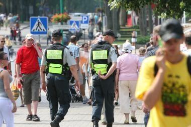 Pajūrio kurortams- sustiprintas policijos dėmesys
