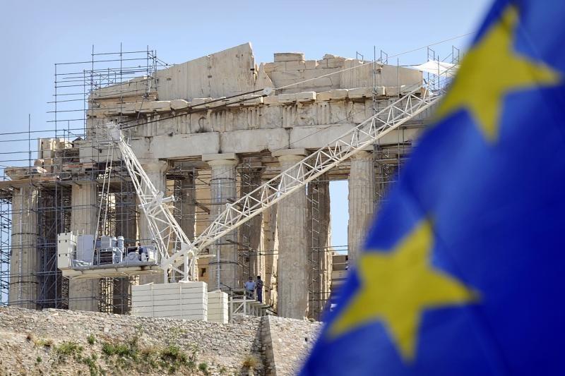 """Graikijos dešinieji perspėja dėl gresiančios euro """"katastrofos"""""""