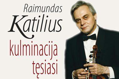 Muzikos ir teatro akademijoje – knygos apie smuikininką R.Katilių pristatymas
