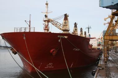 Klaipėdoje sulaikytas Monrovijoje registruotas laivas