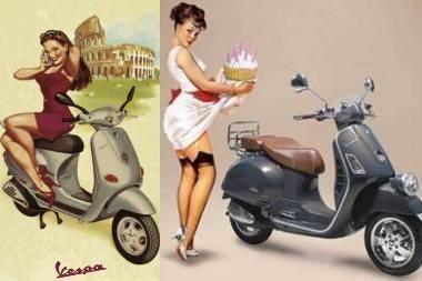 """Pasaulis jau 60 metų su """"Vespa"""" merginomis"""
