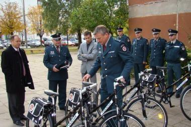 Vilniaus policininkai važinės dviračiais
