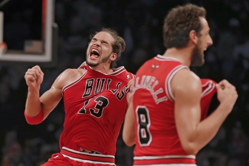 """J. Noah vedami buliai įveikė """"Nets"""" ir ruošiasi serijai su """"Heat"""""""