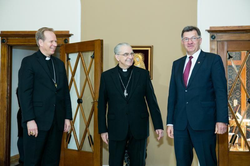 Ministras Pirmininkas susitiko su Vilniaus vyskupais