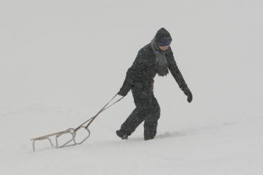 Pavojingiausia slidinėti ant Tauro kalno ir Šeškinės kalvų
